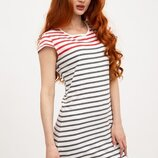 Женская Летняя Туника В Полоску, платье летнее, короткое платье, жіноче літнє плаття