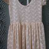 Пудрове плаття прозоре з вишивкою atmosphere