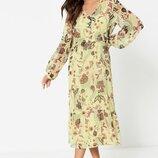 Платье Vila Long Sleeved Button Through Midi Dress