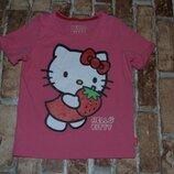 котон футболка девочке 4 - 5 лет M&S хелло кити