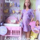 Редкая шарнирная кукла беременная Барби Мидж Barbie Midge happy family маттел mattel.