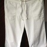 брюки бриджи летние белые Zara