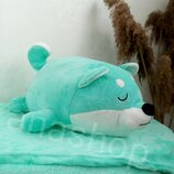 Плед подушка трансформер, детский плед игрушка, подушка в виде собачки
