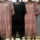 Нарядные кружевные платья миди