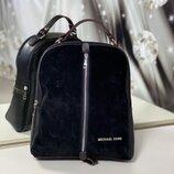 Женский замшевый рюкзак Мишель Корс цвет черный, красный, темная пудра, серый