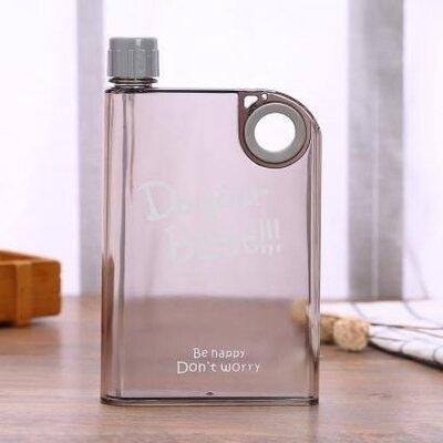 Пластиковая туристическая фляга 0.380 мл. пластиковая бутылка