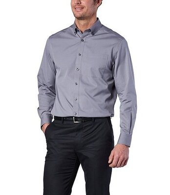 Плотная мужская синяя натуральная хлопок рубашка с длинным рукавом Slim слим синяя фиолетовая