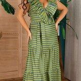 Шикарное Коттоновое Длинное Платье Изабель. Размеры 48-50,52-54,56-58,60-62.