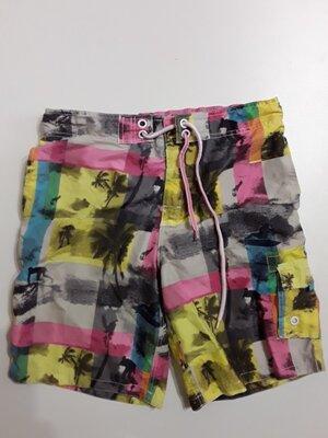 Фирменные пляжные шорты L