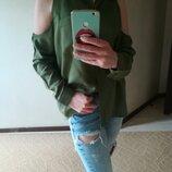 Стильна зелена сорочка блуза H&M розмір М-L.