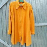 Пальто свингер свободный крой апельсиновый цвет