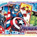 Пазлы Мстители , 70 эл, пазлы герои марвел, пазлы супергерои