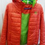 Куртка оранжевого цвета 44-46 р