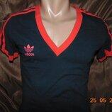 Стильная катоновая спортивная футболка Adidas Адидас .л .