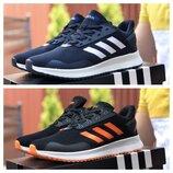 Мужские кроссовки Adidas, синие и черные