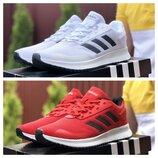 Мужские кроссовки Adidas, красные и белые
