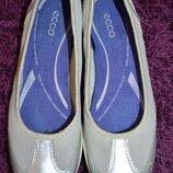 Кожаные балетки Ecco р. 40 по стельке 26, 5 см