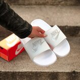 Унисекс тапки Nike Slippers White | 36-44.