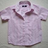 Рубашка в полоску, хлопок, длина 44 см.