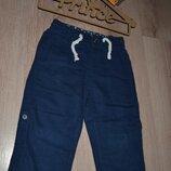 Штаны -шорты малышу H&M 12-18 мес лен коттон