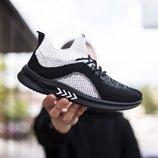 Кроссовки мужские В01809, черно-белые