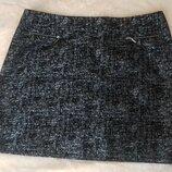 Женская мини юбка от George. Большой размер ххл, англтйский 16. Замеры поб 58 см, , длина 47 см. В