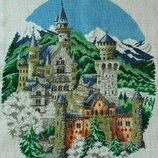 Вышитая картина Зимний город