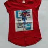 Красная футболка для девочки. Турция