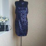 Красивое платье в пайетки new look 18 размер