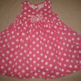 Платье в горох George 12-18мес