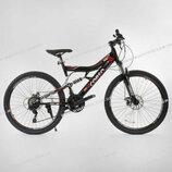 Велосипед спортивный CORSO 26 дюймов рама металлическая 16 , 21 скорость, собран на 75%