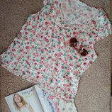 Next милая блузочка/топ с принтом цветы