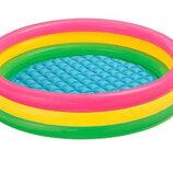 Детский надувной бассейн Intex 57412 «Весёлые колечки».