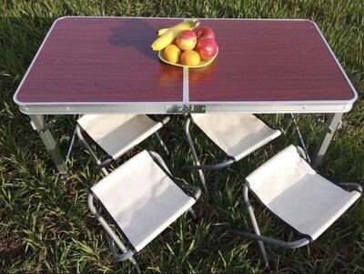 Стол Для Пикника Раскладной 4 Стулья RAINBERG