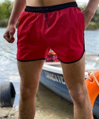 Мужские Купальные пляжные Шорты Intruder красные - черные