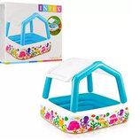 Детский надувной Бассейн со съемной крышей Intex 57470