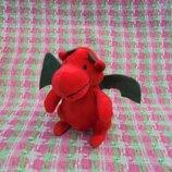 Игрушка мягкая маленькая красный дракон, высота 11см