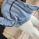 Модная джинсовка с бахромой Юп0114