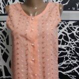 блузка с шитьем Etam в идеальном состоянии М