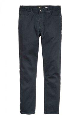 Твиловые брюки Slim fit H&M Размер 32,30
