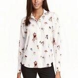 Блуза в цветочный принт орхидеи h&m