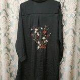 Стильная удлиненная блузка с вышивкой, летний кардиган , кимоно от atmosphere