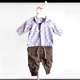 Джинсовая рубашка и джинсы Rebel на 0-3М / 56-62 см