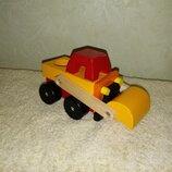 Машинка экскаватор деревянная машинка