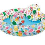 Детский надувной бассейн Circle Pool Set Intex 59460