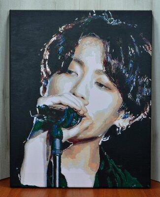 Картина по номерам розмальована jungkook bts kpop: 697 грн ...