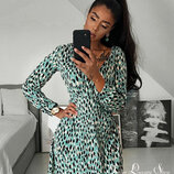 Бирюзовое платье H&M 46-48 коллекция 2020