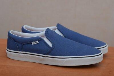 Мужские синие кеды, слипоны Vans, ванс, 44.5 размер. Оригинал