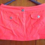 Стильная Мини юбка алого цвета Vero Moda