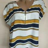 Оверсайзная блуза в полоску